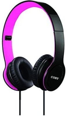 Coby Cvh-801-Pnk Folding Stereo Headphones Headphones