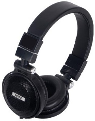 Intex Multimedia With Mic 213 Wired Headphones (Black, Over the Head)