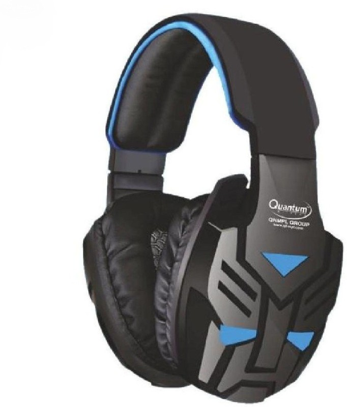 Quantum Qua Headphon bluetooth Headphones(Blue, Over the Ear)