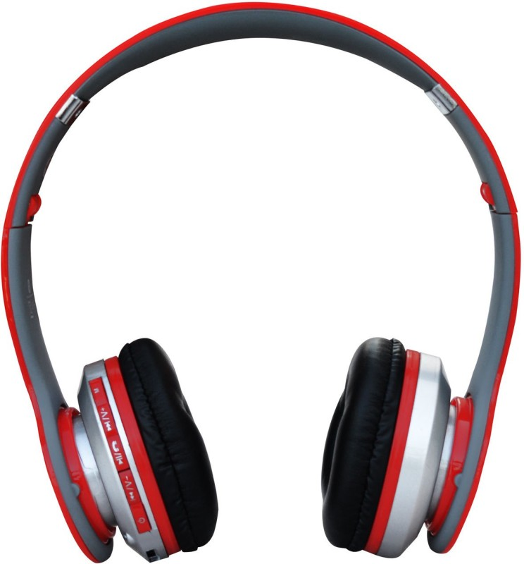 obs Bluetooth Stereo/MP3 Headset (red) Stereo Headphone With MIC Wired & Wireless Bluetooth Headphones headphone Wired & Wireless bluetooth Headphones(Red, Over the Ear)