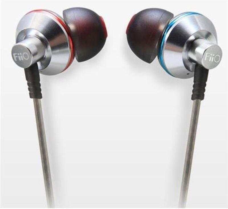 FiiO EX1 Aerospace Nanotech Titanium Diaphragm In-ear Monitors Wired Headphones(Silver, In the Ear)