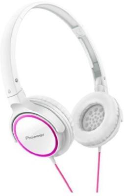 Pioneer Fully Enclosed Dynamic Headphones Se-Mj512-Pw (Pink & ) Headphones(White)