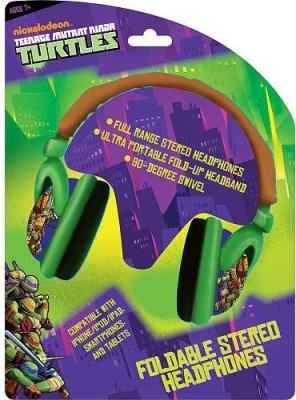 Sakar Teenage Mutant Ninja Turtles 46165-Tru Foldable Plush Headphones Headphones(Green)