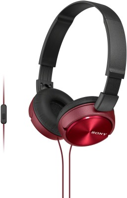 Sony MDRZX310AP Wired Headset With Mic(Red)