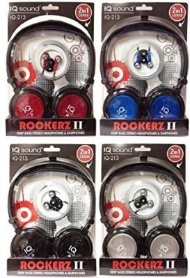Supersonic Iq213Bl High Quality Earbud/Headphone Pack Headphones(Blue)