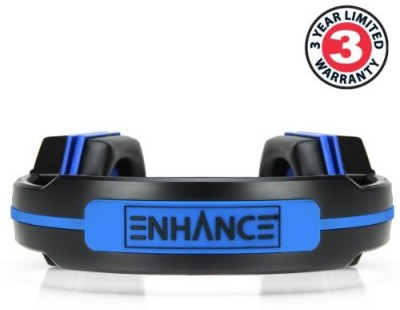 Accessory Power Enhance Blue Led Pc Gaming Headset Gx-H1 With Virtual 7.1 Surround Sound & In-Line Volume Control - Works With Elite: Headphones