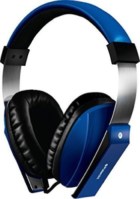 Polaroid Php8600Bl Extra Bass Series Headphone With Noise Isolation And In-Line Mic, Blue Headphones