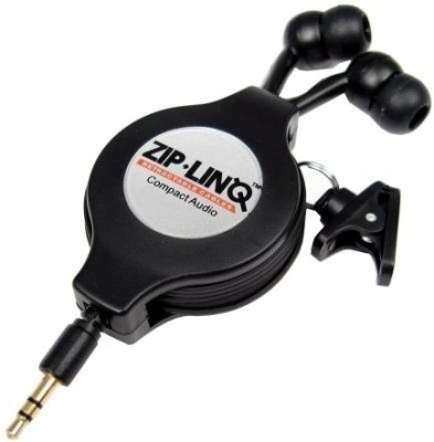 Cables Unlimited Retractable 2.5Mm Earbuds Headphones(Black)