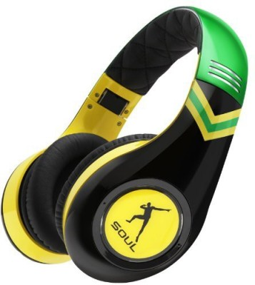 Soul By Ludacris Sl300Jam Usain Bolt Signature Series Headphones (Discontinued By Manufacturer) Headphones(Multicolor) at flipkart