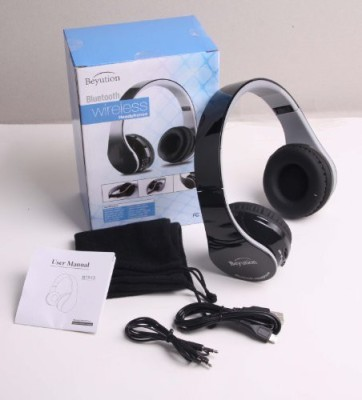 Beyution New @ Black Color Smart Stereo Hi-Fi Wireless Bluetooth Headphone---For All Tablet Mid, Smart Cell Phone And All Tooth Device---With Wired bluetooth Headphones