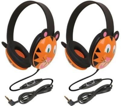 Califone 2810-Ti Listening First Stereo Headphone, Tiger Motif - Pack Of 2 Headphones