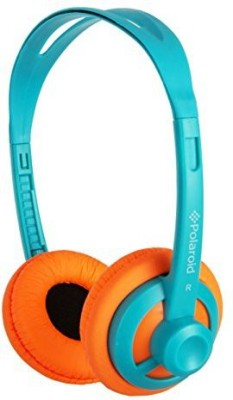 Polaroid Php11Tlor Super Light Weight Neon Headphones, Tangle-Proof, Compatible With All Devices, Teal Headphones