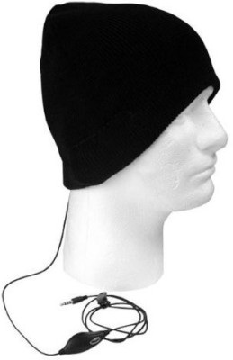 Boss Tech Products, Inc. Btp-Hat- Stereo Tech Knit Hat With Built-In Handsfree - Retail Packaging Headphones(Black)