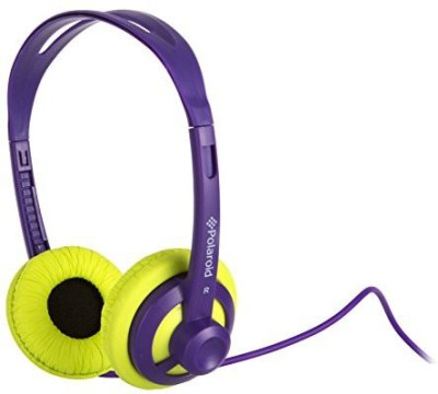Polaroid Php11Pulm Super Light Weight Neon Headphones, Tangle-Proof, Compatible With All Devices, Lime Headphones(Yellow)