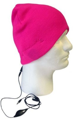 Boss Tech Knit Beanie Hat With Built-In Hands Free Headset Headphones