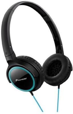 Pioneer Fully Enclosed Dynamic Headphones Se-Mj512-Gk (Turquoise & ) Headphones