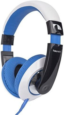 Nakamichi Nk780 Precision Sound Over The Ear Headphones With Mic Remote- Blue Headphones