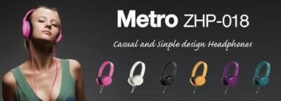 Zumreed Zum-80380 Metro Smart Stylish And Colorful Over The Ear Headphones Headphones
