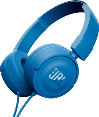 JBL T450 ON EAR HEADPHONE Headphones(Blue, On the Ear)