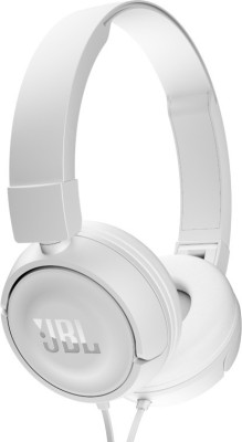 JBL T450 ON EAR HEADPHONES Headphones(White, On the Ear)