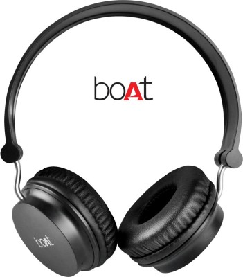 boAt Rockerz On Ear 400 Black On-the-ear...