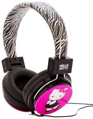Hello Kitty Hk-Zeb-Wm Headphones With Zebra Design Headphones