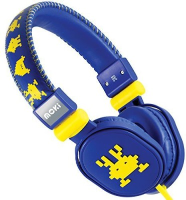 Moki International Moki Acchppoh Martian Soft Cushion Headphones, Blue Headphones