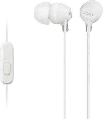 Sony MDR-EX15AP Wired Headphones(White, In the Ear)