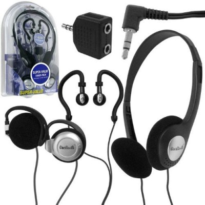Go Stereo 72-4157 Headphones, Clip-Ons, And Ear Buds (3 Pack) (Discontinued By Manufacturer) Headphones
