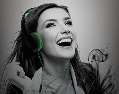 Sharper Image Shp50Bkgr Universal Premium Deep Bass Headphones With Mic Compatible With All Devices () Headphones