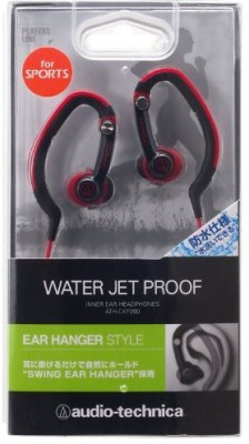 Audio Technica Audio Technica Ath-Ckp200 Rd | Waterproof Sports In-Ear Ear-Hanger Headphones (Japanese Import) Headphones