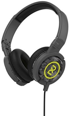 2Xl Phase Dj Headphone With Articulating Ear-Cups X6Ftgz-847 (Dark Gray//Hot Lime) Headphones