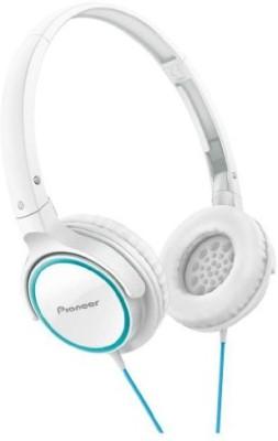 Pioneer Fully Enclosed Dynamic Headphones Se-Mj512-Gw (Turquoise & ) Headphones(White)