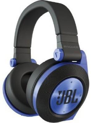 JBL E50Bt Blue Premium Wireless Over-Ear Bluetooth Stereo Headphone, Blue Wired bluetooth Headphones