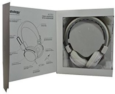 Audiology Au-350-Wht Over-Ear Stereo Headphones For Mp3 Player, Ipods And Iphones () Headphones(White)