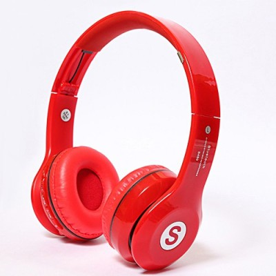 Sami S460 Sami S460 Stereo Headphones With Mic Wired & Wireless bluetooth Headphones(Red, On the Ear)