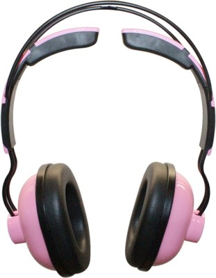MX 3333-Pink Stereo Dynamic closed back Wired Headphones