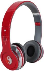 Mezire S450 Wireless Bluetooth Stereo Dynamic Headphone bluetooth Headphones(Red, On the Ear)