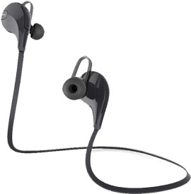 ROOQ QY7BL-013 stereo dynamic headphone Wireless bluetooth Headphones(Black, In the Ear)
