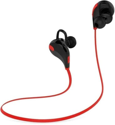 ROOQ QY7RE-024 stereo dynamic headphone bluetooth Headphones(Red, In the Ear)