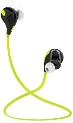 ROOQ QY7GR-001 stereo dynamic headphone Wireless bluetooth Headphones(Green, In the Ear)
