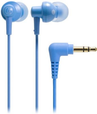 Audio Technica ATH-CKL200 LBL Wired Headphones(Light Blue, In the Ear) at flipkart