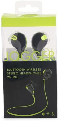 ROOQ QY7GR-004 stereo dynamic headphone bluetooth Headphones(Green, In the Ear)