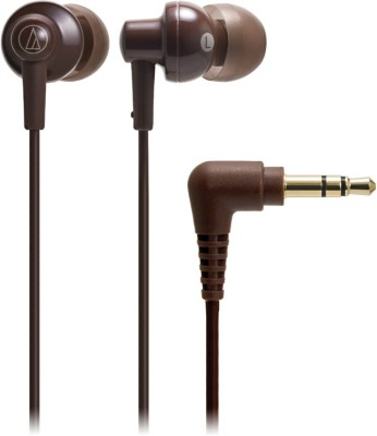Audio Technica ATH-CKL200 BW Stereo Dynamic Headphone Wired Headphones(Brown, In the Ear) at flipkart