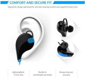 ROOQ QY7BU-014 stereo dynamic headphone bluetooth Headphones(Blue, In the Ear)