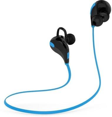 ROOQ QY7BU-011 stereo dynamic headphone bluetooth Headphones(Blue, In the Ear)