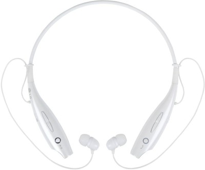 rooq hbs730-005 stereo dynamic headphone Wireless bluetooth Headphones(White, In the Ear)