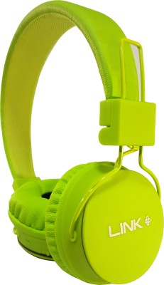 Link+ 5 In 1 Wireless Headphone Stereo Dynamic Headphone Wireless bluetooth Headphones(Parrot Green, On the Ear)