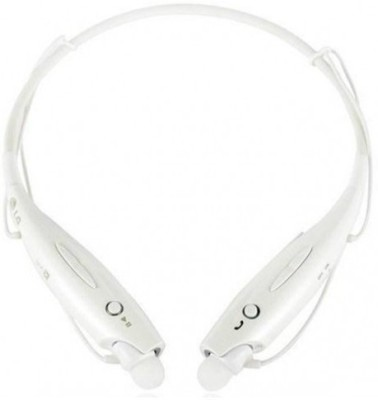 rooq hbs730-002 stereo dynamic headphone Wireless bluetooth Headphones(White, In the Ear)