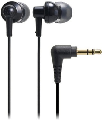 Audio Technica ATH-CKL200 BK Stereo Dynamic Headphone Wired Headphones(Black, In the Ear) at flipkart